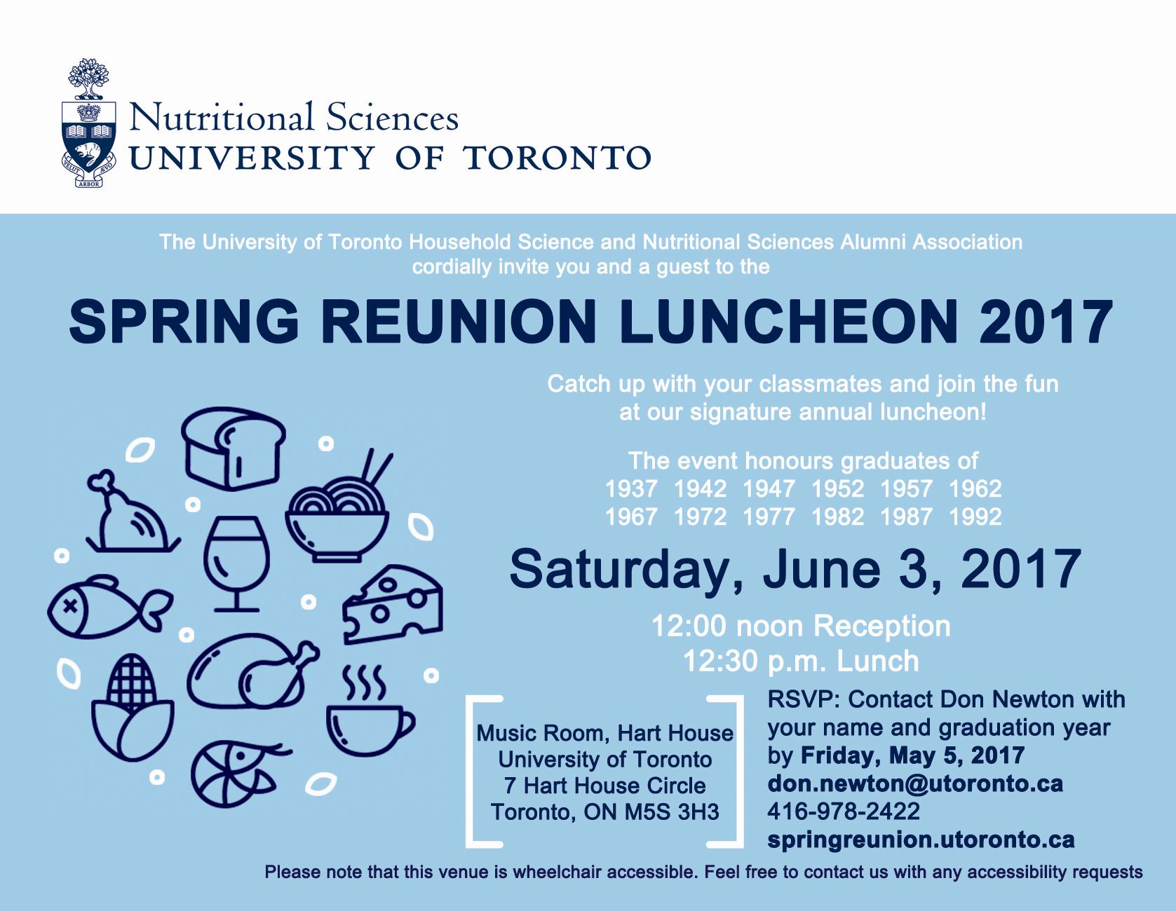 spring reunion luncheon invitation