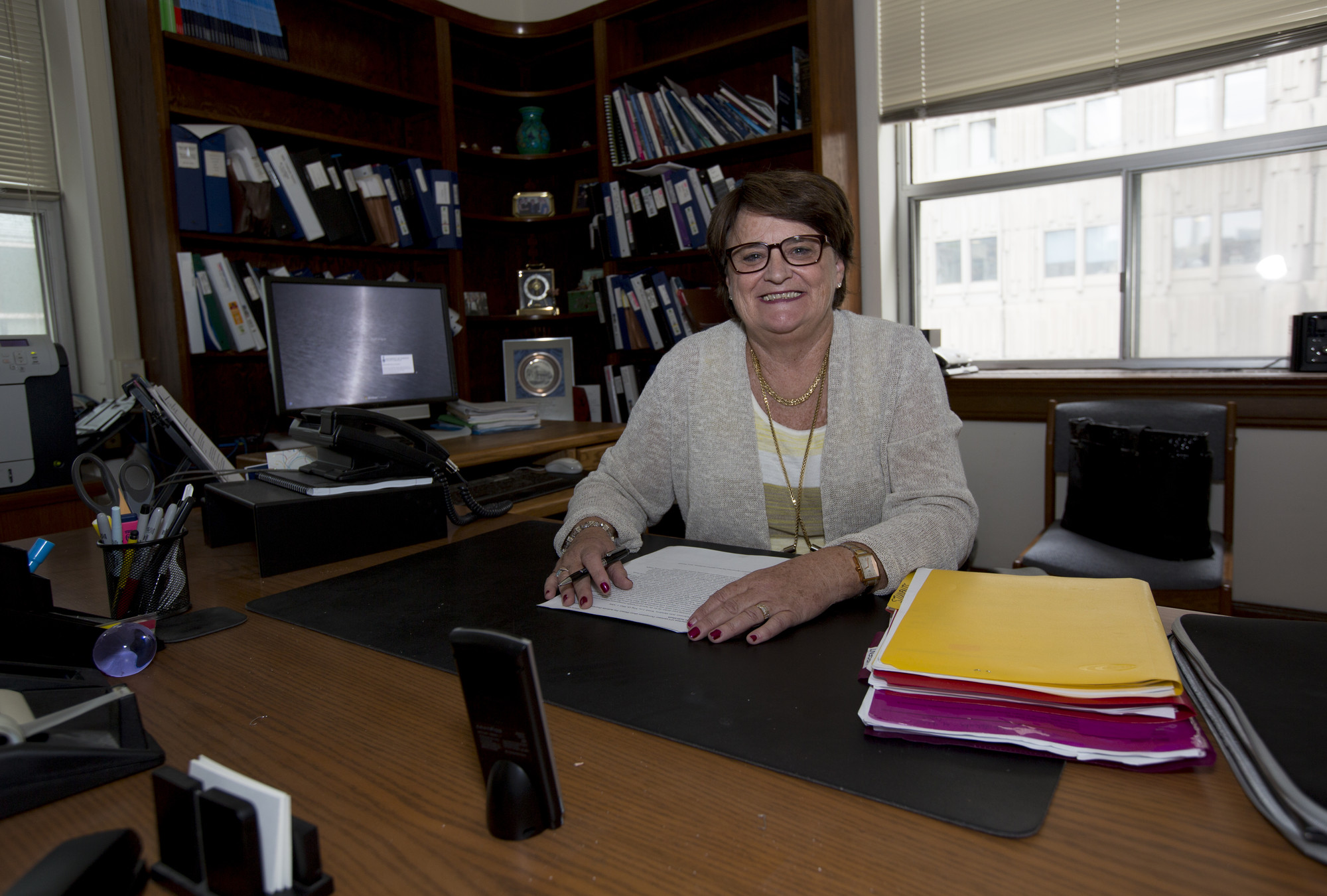Photo of Professor Mary L'Abbé in her office